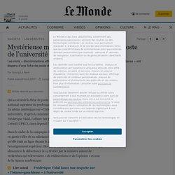 Mystérieuse modification d'une fiche de poste de l'université Paris-Est Créteil