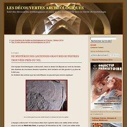 De mystérieuses anciennes gravures rupestres trouvées prés du Nil