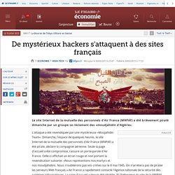 De mystérieux hackers s'attaquent à des sites français