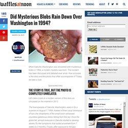 Did Mysterious Blobs Rain Down Over Washington in 1994?