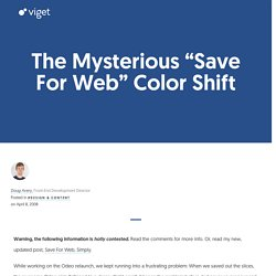 "The Mysterious ""Save For Web"" Color Shift"