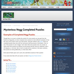 Mysterious Negg Completed Puzzles