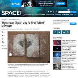 'Mysterious Object' May Be First 'Extinct' Meteorite