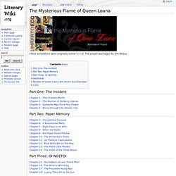 The Mysterious Flame of Queen Loana - Literary Wiki.org