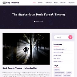 The Mysterious Dark Forest Theory