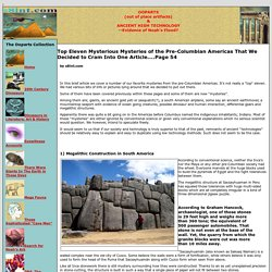 Top Eleven Mysterious Mysteries of the Pre-Columbian Americas That We Decided to Cram Into One Article....Page 54