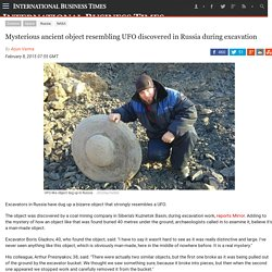 Mysterious ancient object resembling UFO discovered in Russia during excavation