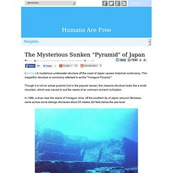 "The Mysterious Sunken ""Pyramid"" of Japan"