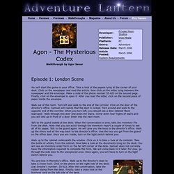 Agon - The Mysterious Codex Walkthrough - Adventure Lantern