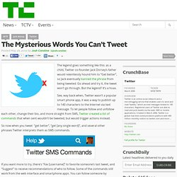 The Mysterious Words You Can't Tweet