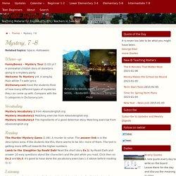 Mystery, year 7-8 ⋆ WebEnglish.se