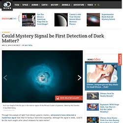 Could Mystery Signal be First Detection of Dark Matter?