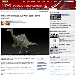 Mystery of dinosaur with giant arms solved