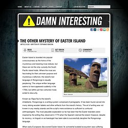 The Other Mystery of Easter Island