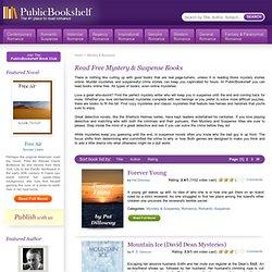 Read Mystery & Suspense Books Online - Free