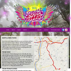 Mystic Valley Festival - Directions