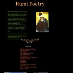 Mystical Poetry of Rumi!