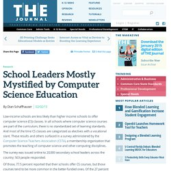 School Leaders Mostly Mystified by Computer Science Education
