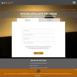 MYSUN Affiliate Program