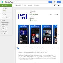 MYTF1 – Applications Android sur GooglePlay