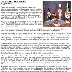 The Myth of Osiris and Isis by Whitney Bayuk