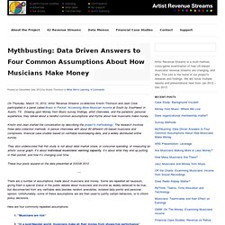 Mythbusting: Data Driven Answers to Four Common Assumptions About How Musicians Make Money