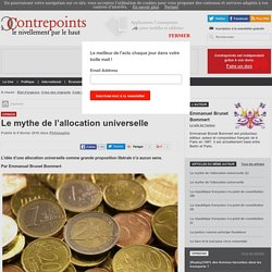 Le mythe de l'allocation universelle