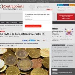 Le mythe de l'allocation universelle (2)