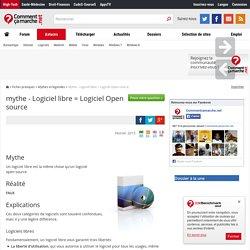mythe - Logiciel libre = Logiciel Open source