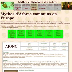 Les mythes des arbres communs d'Europe