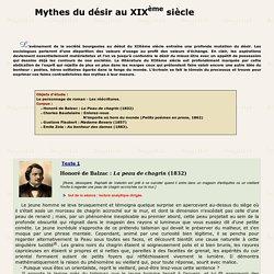 MYTHES DU DESIR AU XIX° SIECLE