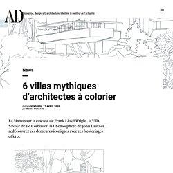 6 villas mythiques d'architectes à colorier