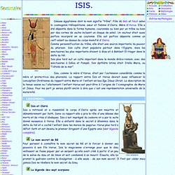 Mythologie egyptienne: Isis