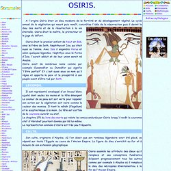 Mythologie egyptienne: Osiris
