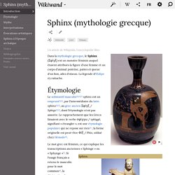 Sphinx (mythologie grecque) - Wikiwand