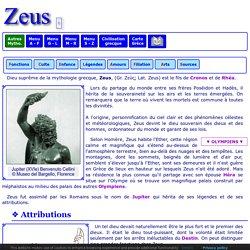 Mythologie grecque : Zeus 1