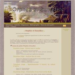 .: Orphée et Eurydice :. La mythologie à l'école primaire > Séquence pédagogique autour du mythe d'Orphée et Eurydice