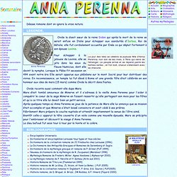 Mythologie romaine : Anna Perenna