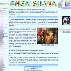 Mythologie romaine: Rea Silvia