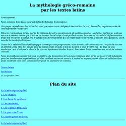 La mythologie gréco-romaine par les textes latins