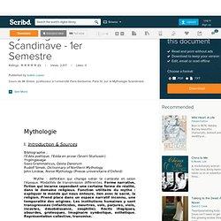 Mythologie Scandinave - 1er Semestre