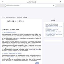 mythologies nordiques - Larousse encyclopédie