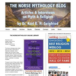 Articles & Interviews on Myth & Relgion