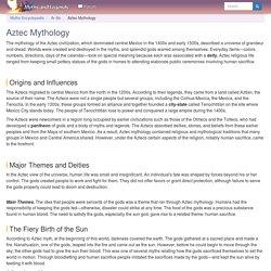 Aztec Mythology - Myth Encyclopedia - god, story, legend, names, ancient, animal, snake, war, world, creation