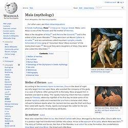 Maia (mythology)