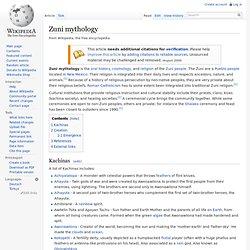 Zuni mythology
