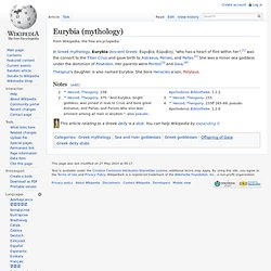 Eurybia (mythology)
