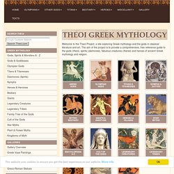 THEOI GREEK MYTHOLOGY, Exploring Mythology & the Greek Gods in Classical Literature & Art