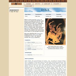 DIKE : Greek Goddess of Justice | Mythology, w/ pictures | Roman Justicia