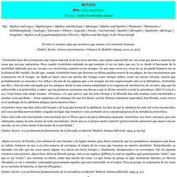 MYTHOS Citas españolas sobre mito